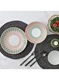 Güral Porselen Desenli Yemek Takımı Seti 24 Prç.6 Kişilik 5404 Renkli